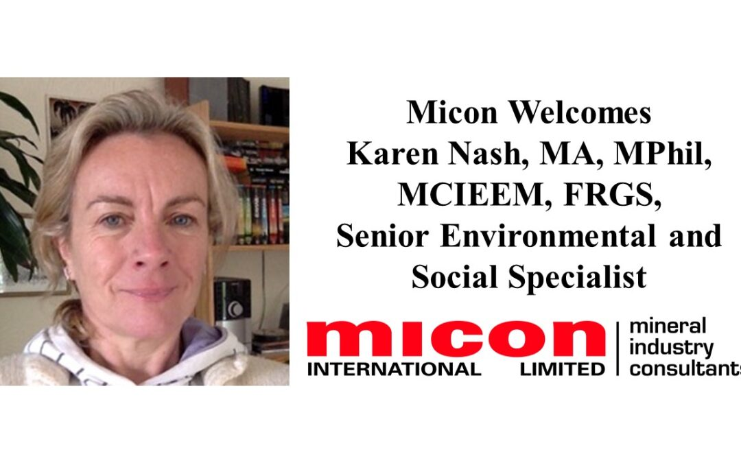 Karen Nash joins Micon as Senior Environmental and Social Specialist
