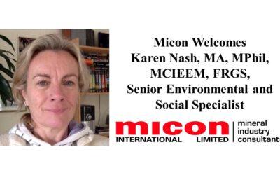 Karen Nash joins Micon as Senior Environmental and Social Specialist