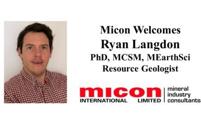 Micon is Pleased to Announce that Ryan Langdon, PhD, MCSM, MEarthSci, has Joined Our UK Team as Resource Geologist
