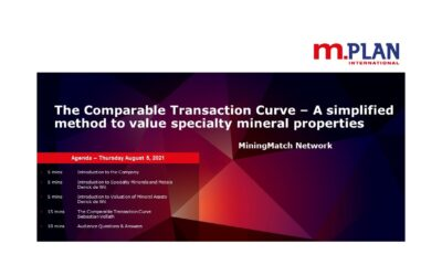 The Comparative Transaction Curve to Value Specialty Mineral Properties